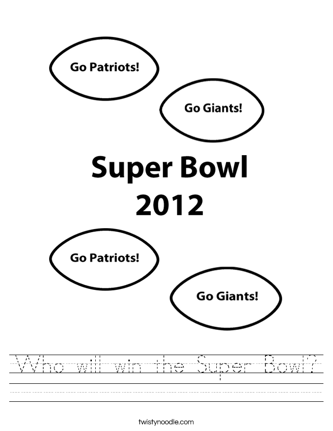 Who will win the Super Bowl? Worksheet