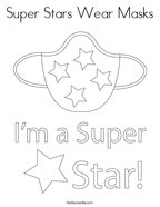 Super Stars Wear Masks Coloring Page