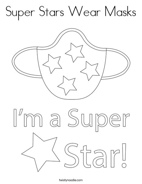 Super Stars Wear Masks! Coloring Page