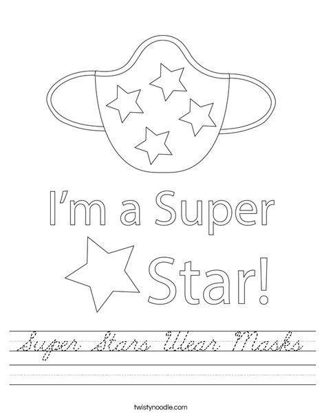 Super Stars Wear Masks! Worksheet
