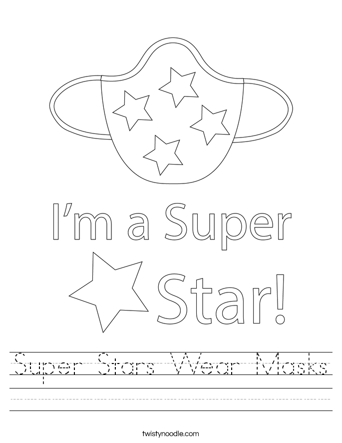 Super Stars Wear Masks Worksheet