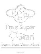 Super Stars Wear Masks Handwriting Sheet