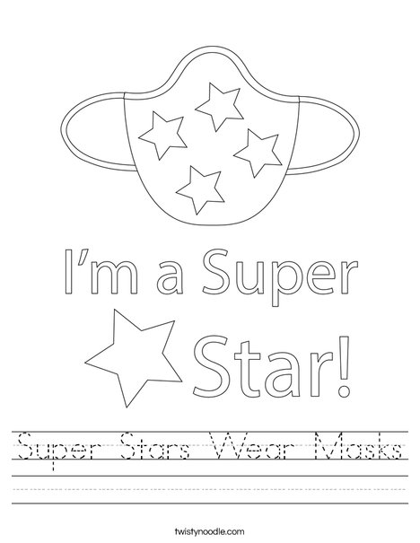 Super Stars Wear Masks! Worksheet