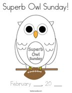 Superb Owl Sunday Coloring Page