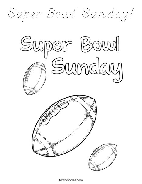 Superbowl Sunday Coloring Page