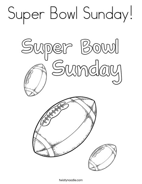 superbowl coloring pages for kids | Super Bowl Sunday Coloring Page - Twisty Noodle