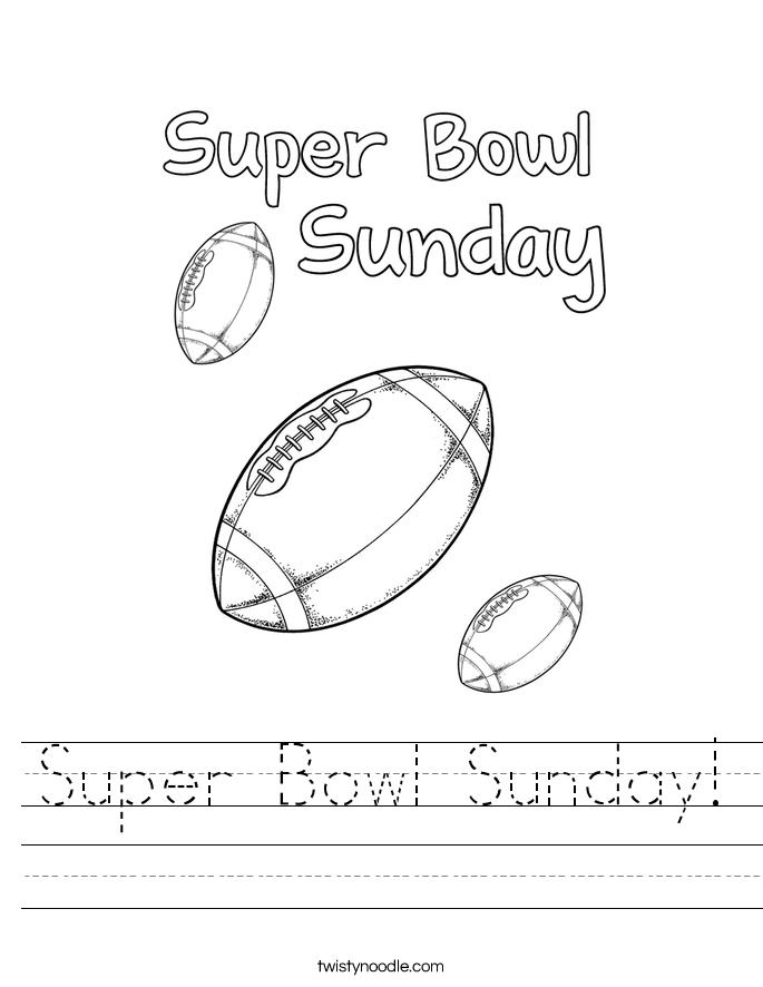 Super Bowl Sunday! Worksheet