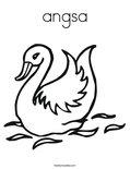 angsa Coloring Page