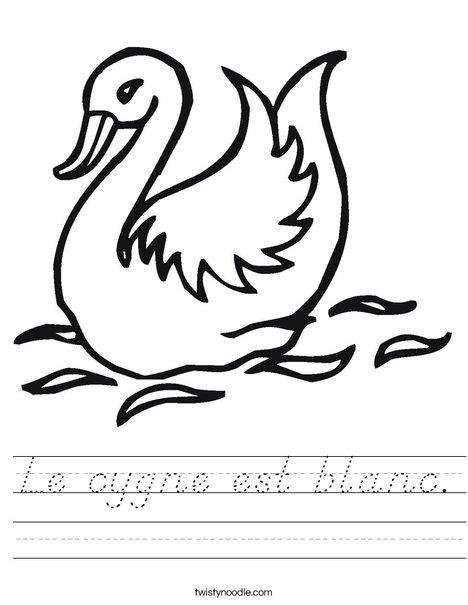 Swan Worksheet