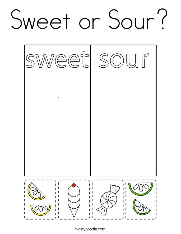 Sweet or Sour? Coloring Page