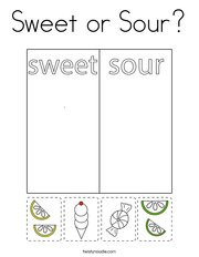Sweet or Sour Coloring Page