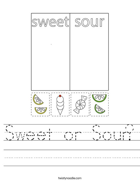 Sweet or Sour? Worksheet