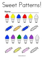 Sweet Patterns Coloring Page