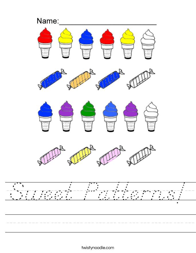 Sweet Patterns! Worksheet