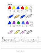 Sweet Patterns Handwriting Sheet