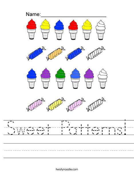 Sweet Patterns Worksheet