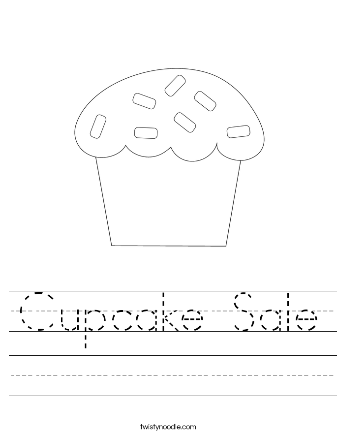 Cupcake Sale Worksheet