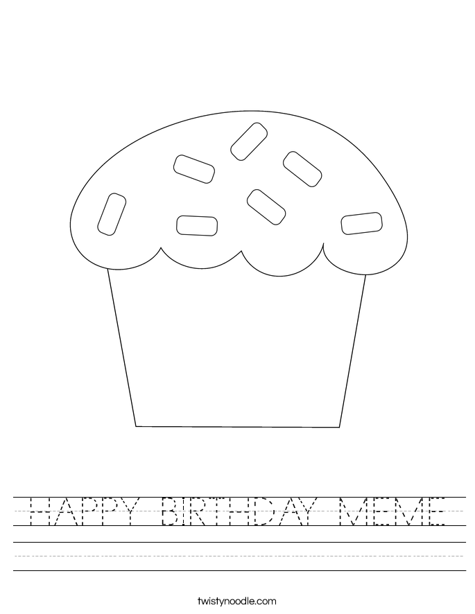 HAPPY BIRTHDAY MEME Worksheet