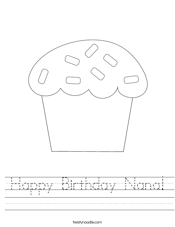 Happy Birthday Nana! Worksheet