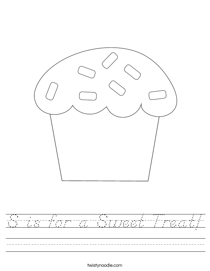 S is for a Sweet Treat! Worksheet