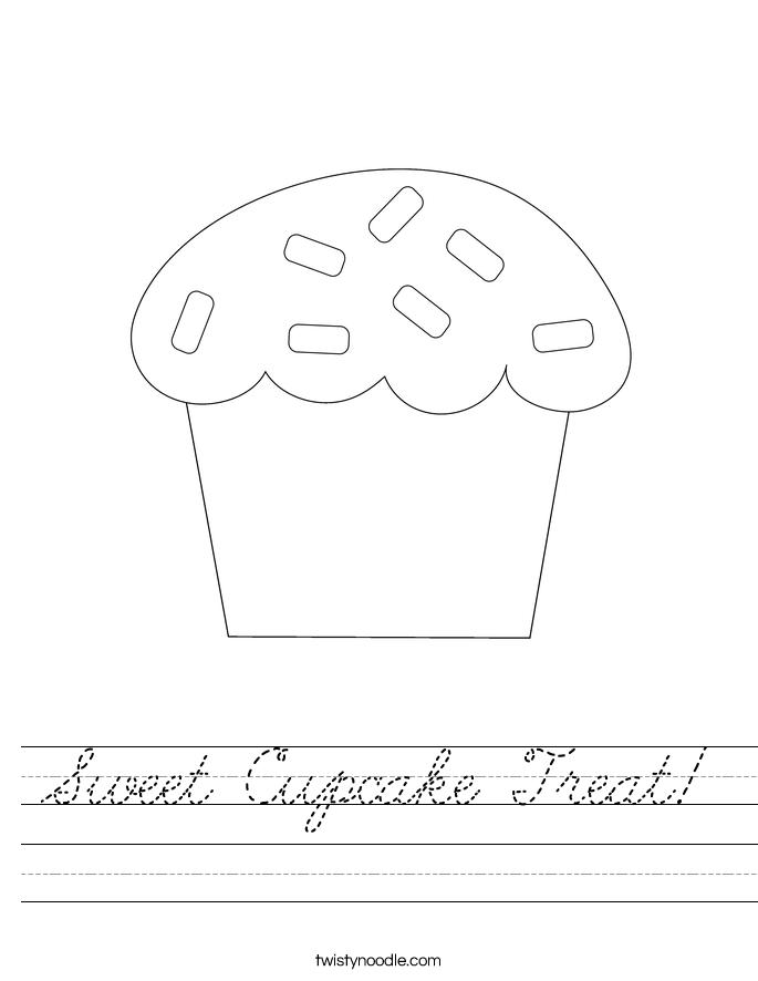 Sweet Cupcake Treat! Worksheet