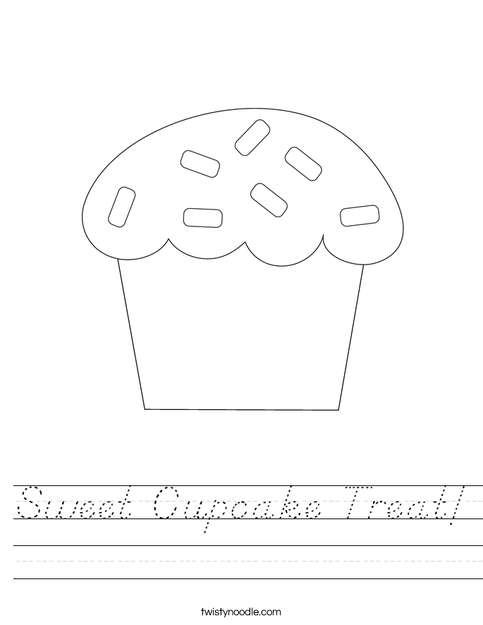 Sweet Cupcake Treat! Worksheet