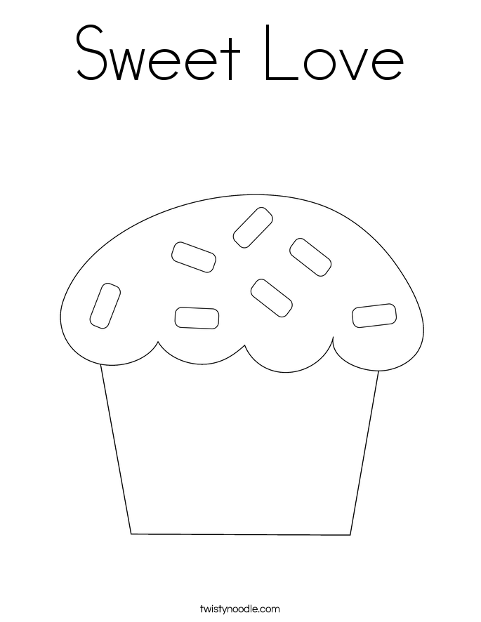 Sweet Love Coloring Page
