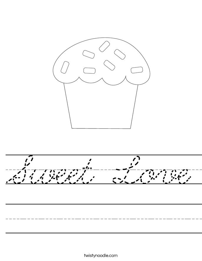 Sweet Love Worksheet