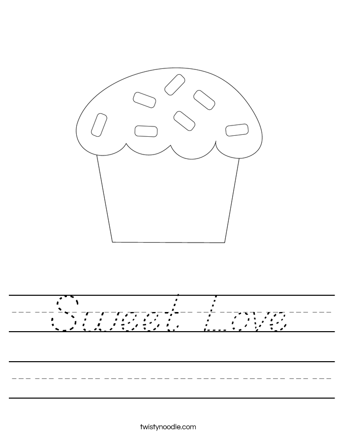 Sweet Love Worksheet