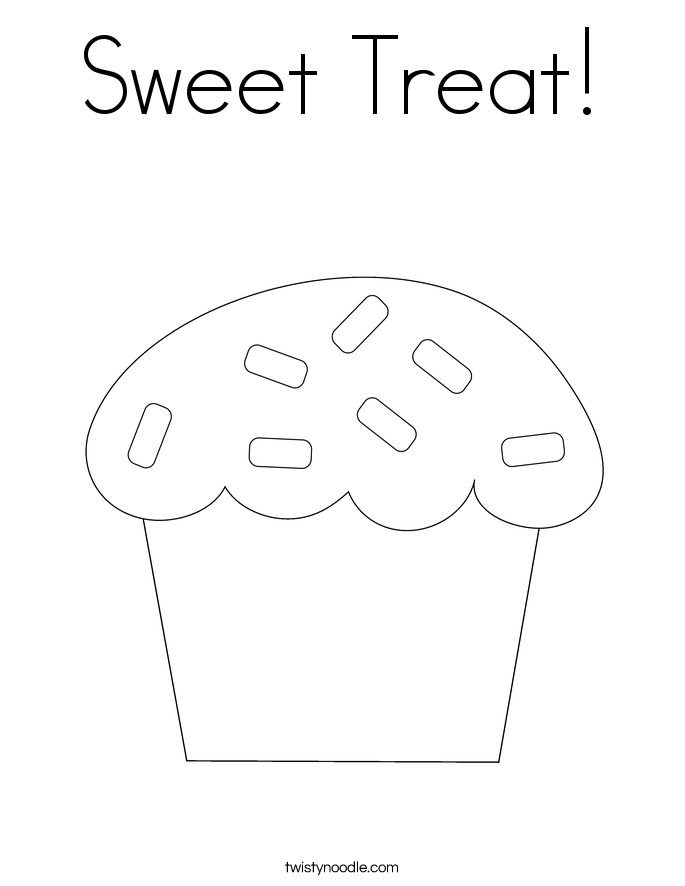 Sweet Treat! Coloring Page