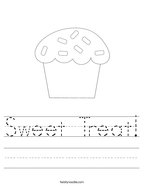 Sweet Treat Handwriting Sheet