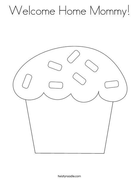 sweet treat coloring page - Welcome Home Coloring Pages