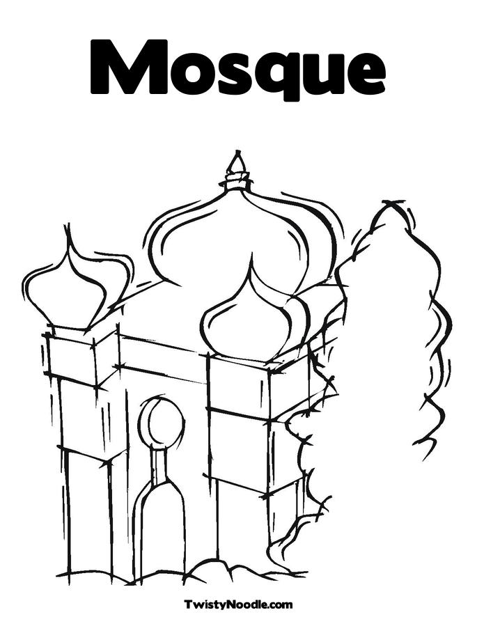 free mosque coloring pages - photo#15