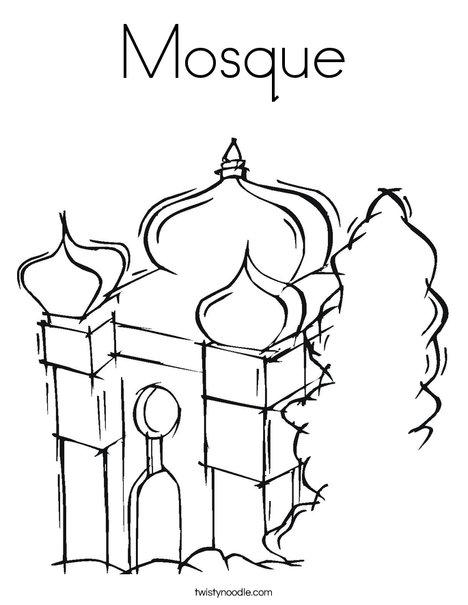Coloring Mosque / Masjid | 1mobile.com