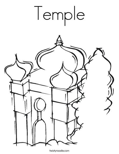 Temple Coloring Page Twisty Noodle