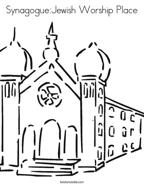 Synagogue2 Coloring Page