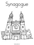 Synagogue Coloring Page