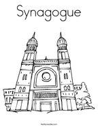 Synagogue Coloring Page