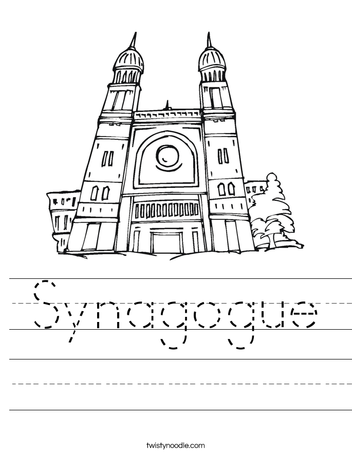 Synagogue Worksheet