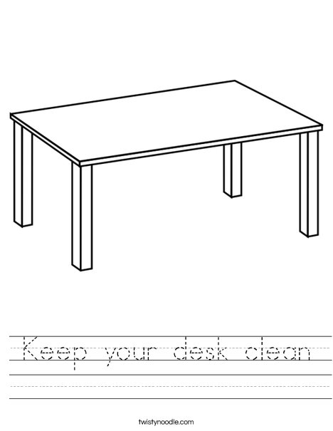 T is for Table Worksheet