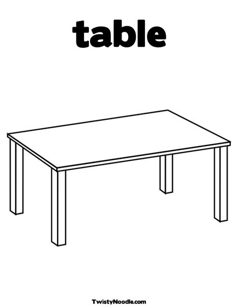 tables coloring pages - photo #8