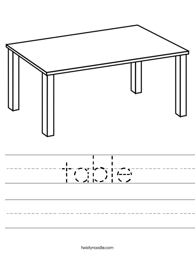 table Worksheet