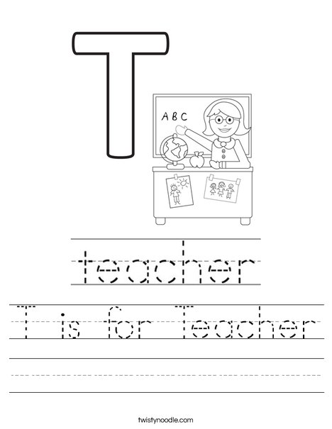 T is for Teacher Worksheet