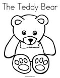 The Teddy Bear Coloring Page
