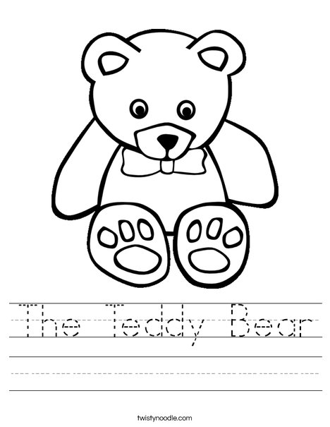 The Teddy Bear Worksheet