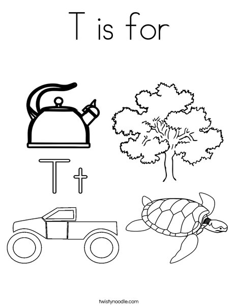 T is for Coloring Page