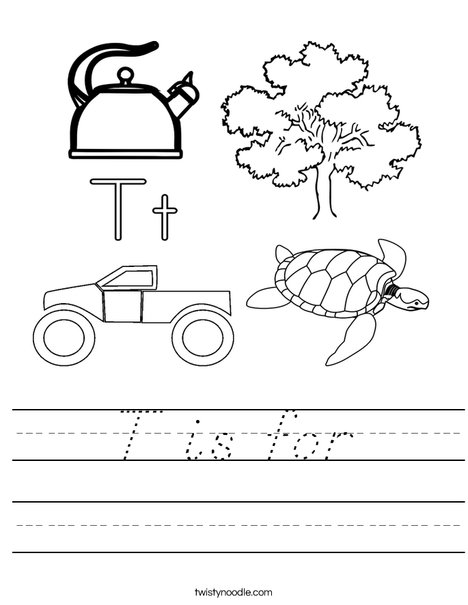 T is for Worksheet