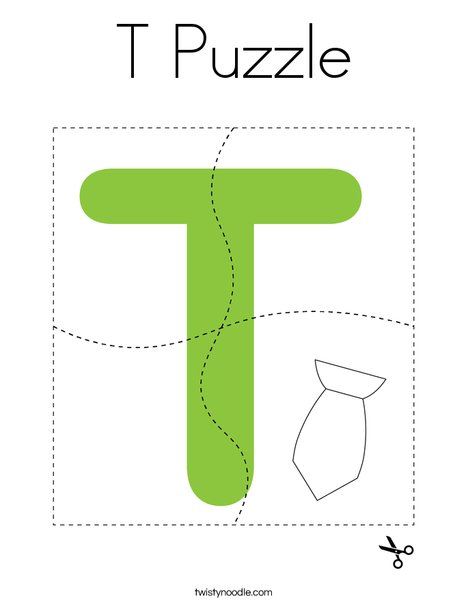 T Puzzle Coloring Page