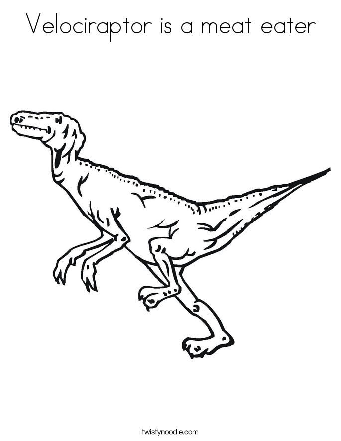 Velociraptor is a meat eater Coloring Page