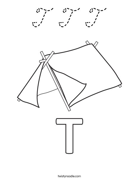 T Tent Coloring Page